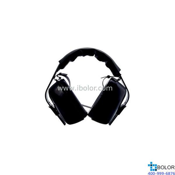 3M 頭戴式耳罩,1427,經濟型 黑色 可與安全帽配合使用
