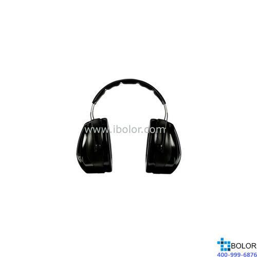 3M 头戴式耳罩,H7A,PELTOR OPTIME 101系列 黑色