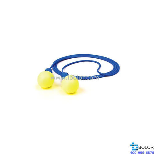 3M 一次性耳塞,318-1005,Push INS 免揉搓蘑菇型PU發泡材質 帶線,1副