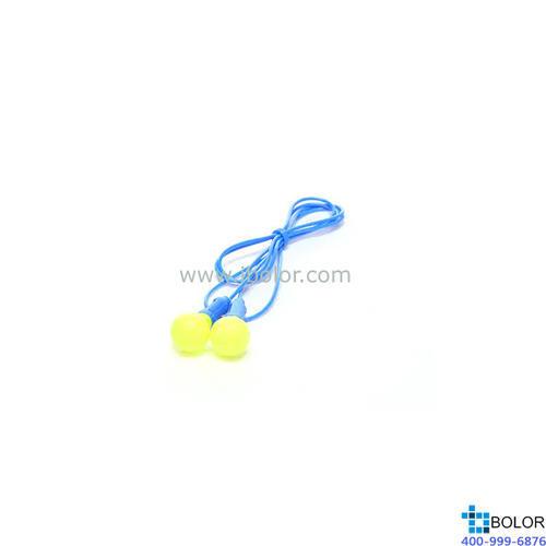 3M 一次性耳塞,318-1005,Push INS 免搓揉蘑菇型PU发泡材质 带线,500副/盒