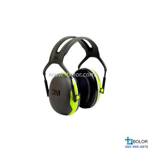 3M 頭戴式耳罩,X4A,PELTOR X系列 綠黑