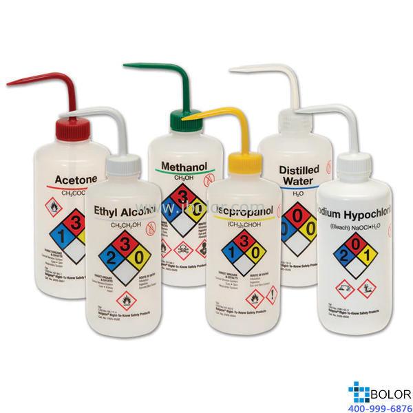 安全易认洗瓶 蒸馏水 LDPE 500ml 2425-0505 NALGENE/耐洁