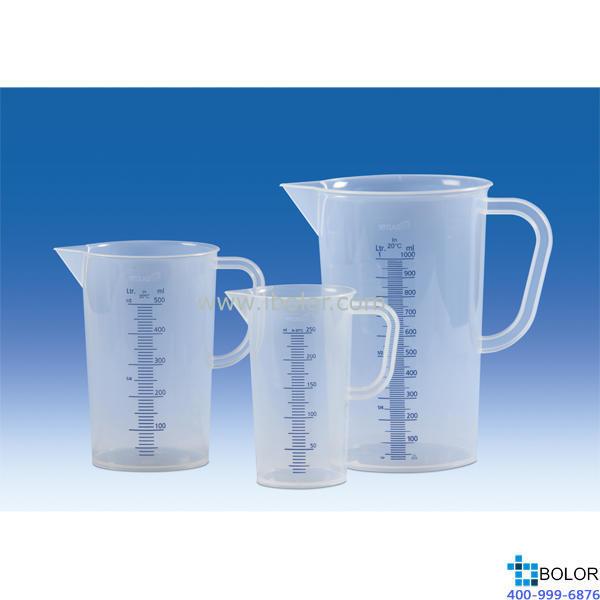 刻度烧杯,PP,蓝色刻度线 模压, 250 ml 德国VITLAB 440081