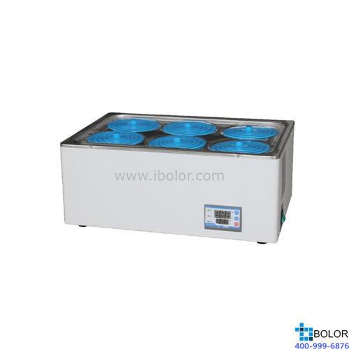 恒温水浴锅 双列六孔;室温+5~99.9℃ ;内胆尺寸:420*320*90mm