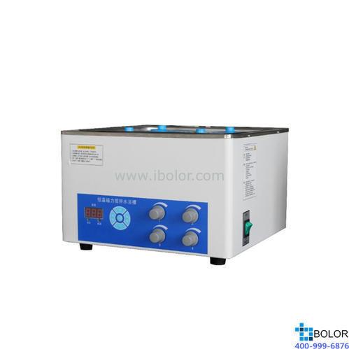 磁力搅拌水浴锅 温度范围:+5~100℃;搅拌工位:四工位;内胆尺寸:300×300×140