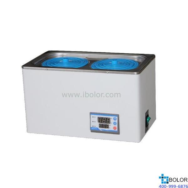 恒温水浴锅 单列双孔;室温+5~99.9℃ ;内胆尺寸:300*180*90mm