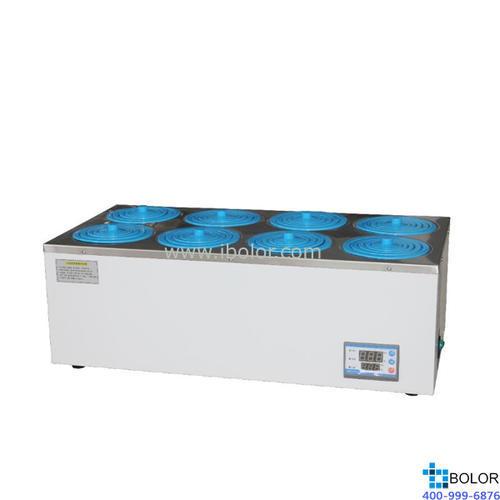 恒温水浴锅 双列八孔;室温+5~99.9℃ ;内胆尺寸:610*310*90mm
