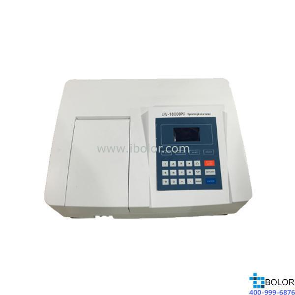 美谱达紫外可见分光光度计UV-1800BPC 测量范围:190-1100nm 带宽:2nm 标配扫描软件 选配联机软件