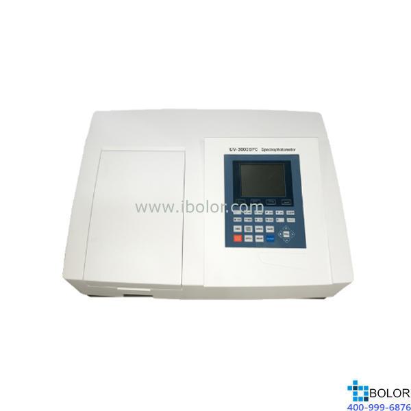 美谱达紫外可见分光光度计UV-3000BPC 测量范围:190-1100nm 带宽:4nm标配扫描软件 标配联机软件 大屏幕液晶