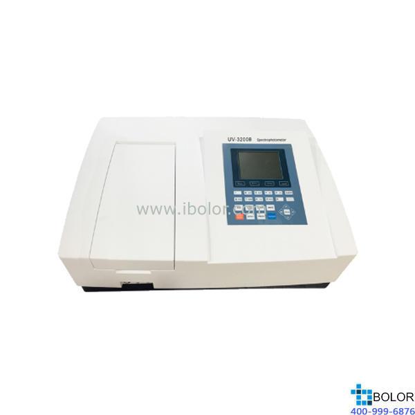 美谱达紫外可见分光光度计UV-3200B 测量范围:190-1100nm 带宽:1.8nm标配扫描软件 标配联机软件 大屏幕液晶