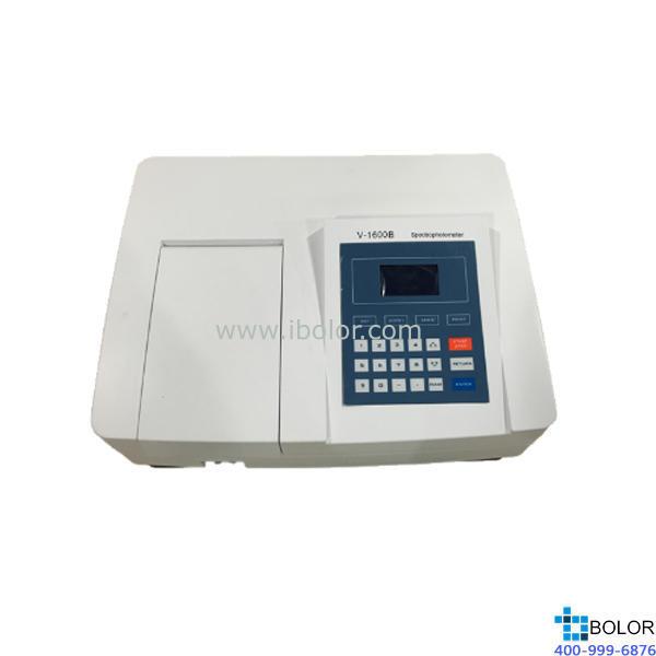 美譜達可見分光光度計V-1600B 測量范圍:320-1100nm 帶寬:4nm 選配掃描軟件 選配聯機軟件