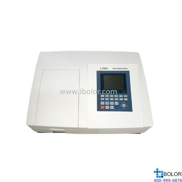 美譜達可見分光光度計V-3000B 測量范圍:320-1100nm 帶寬:4nm 選配掃描軟件 選配聯機軟件 大屏幕液晶
