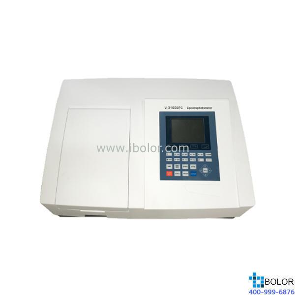 美譜達可見分光光度計V-3100BPC 測量范圍:320-1100nm 帶寬:2nm 標配掃描軟件 選配聯機軟件 大屏幕液晶