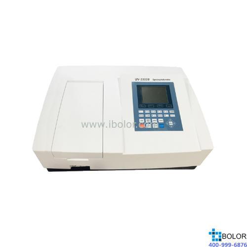 美谱达紫外可见分光光度计UV-3300B 测量范围:190-1100nm 带宽:1nm 标配扫描软件 标配联机软件 大屏幕液晶