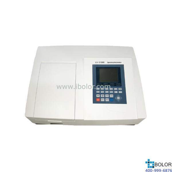 美谱达紫外可见分光光度计UV-3100B 测量范围:190-1100nm 带宽:2nm 选配扫描软件 选配联机软件 大屏幕液晶