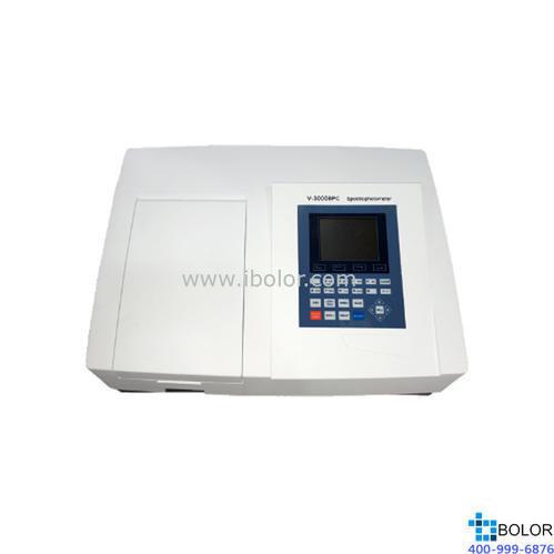 美譜達可見分光光度計V-3000BPC 測量范圍:320-1100nm 帶寬:4nm 標配掃描軟件 選配聯機軟件 大屏幕液晶