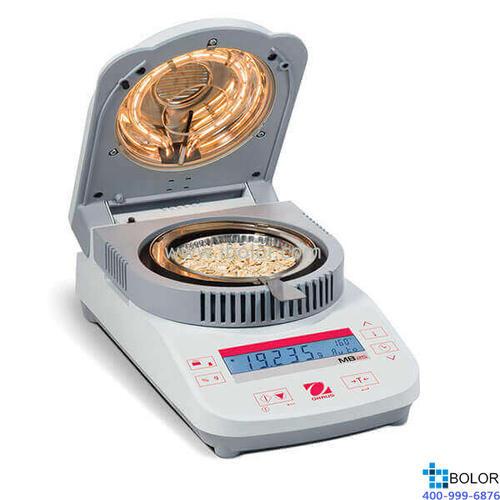 快速水份测定仪;可读性:0.05%;称量范围:110g;加热源:卤素灯;MB25