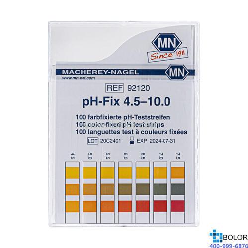 无渗漏pH测试条 测试范围:4.5-10.0;适用于弱缓冲溶液和强碱性溶液 MN 92120