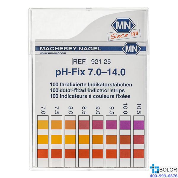 无渗漏pH测试条 测试范围:7.0-10.0;适用于弱缓冲溶液和强碱性溶液 MN 92125