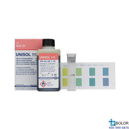 1.0-13;PH液体指示剂 可直接用于液体样品或潮湿表面 MN 91031