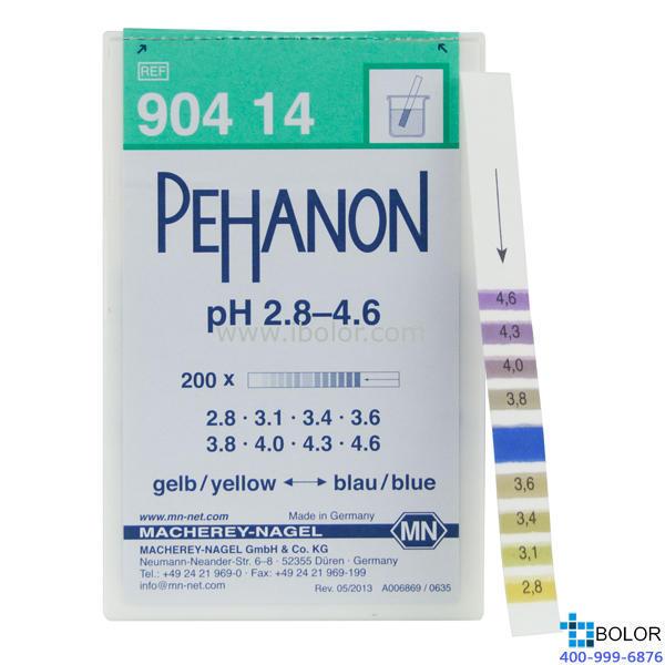 渗漏pH测试条 范围:2.8-4.6;适用于有色溶液 有多种量程选择 MN 90414