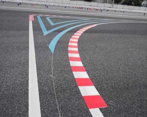 上海驾校画线 赛车场车道划线标准施工 天马赛车场划线