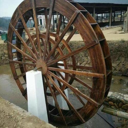 防腐木水车