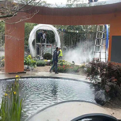 第十届中国花博会宝钢花园水景雾森系统