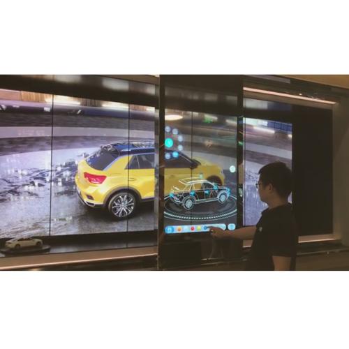 展厅移动屏/电动滑轨屏/透明移动屏