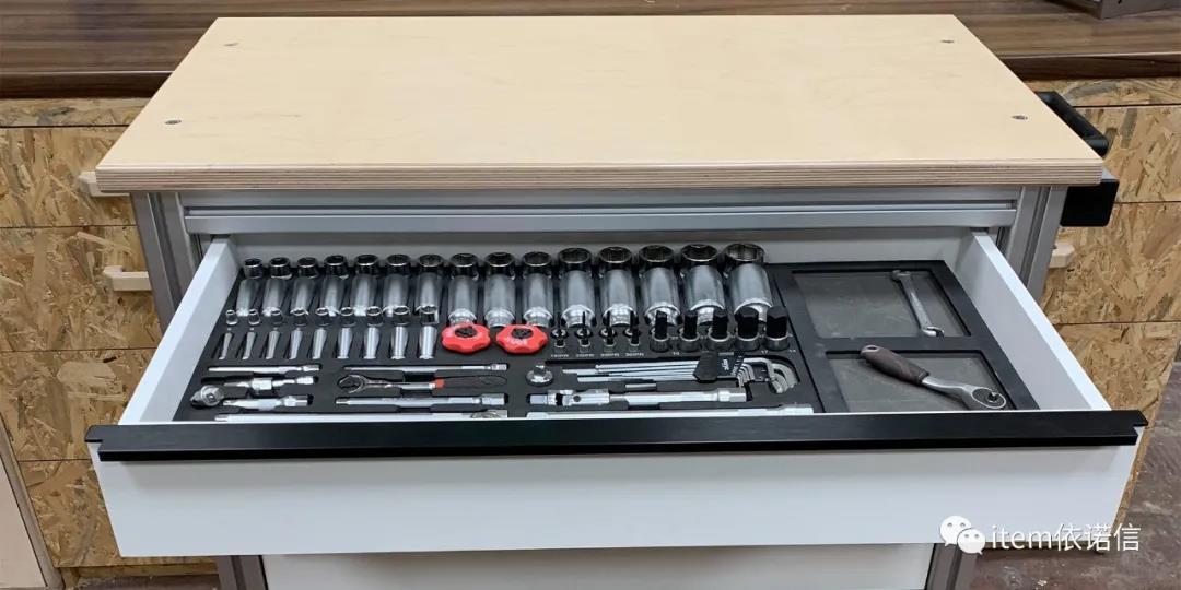 item依诺信MB工业铝型材装配系统搭建车间手推车01.jpg