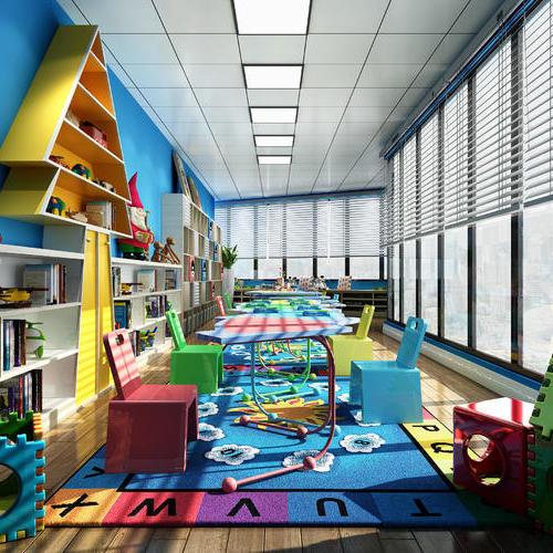 充满童趣活泼幼儿园娱乐场装修设计美丽美好