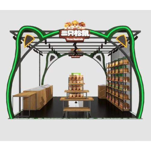 特卖食品专柜展柜商场装修活动设计