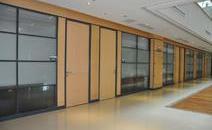 商务楼办公玻璃隔断装修色彩巧搭配