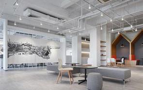 办公室装修中的墙饰设计,让工作乐趣倍增!