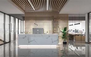 上海300平办公室高颜值前台设计