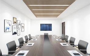 辦公室大型會議室背景墻設計