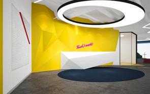 小型办公室前台背景墙设计