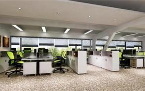 創意園辦公室裝飾設計,辦公室個性前臺裝修設計
