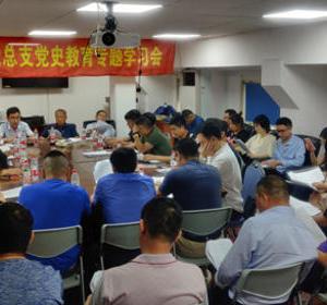 龙桥镇驻沪流动党总支召开党史学习教育专题学习会