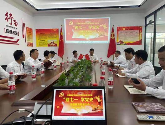 """白湖镇梅山社区驻沪流动党支部召开""""迎七一、学党史""""党员大会"""