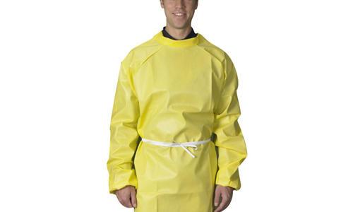 雷克兰反穿围裙CT1S019凯麦斯C级耐酸碱科研实验室防化反穿围裙均码25件装