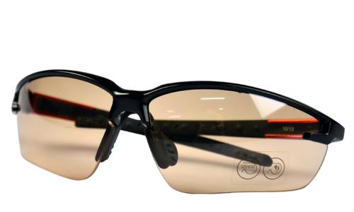 代尔塔 101110 护目镜 户外眼镜防紫外线防尘沙防风  橙色渐变色