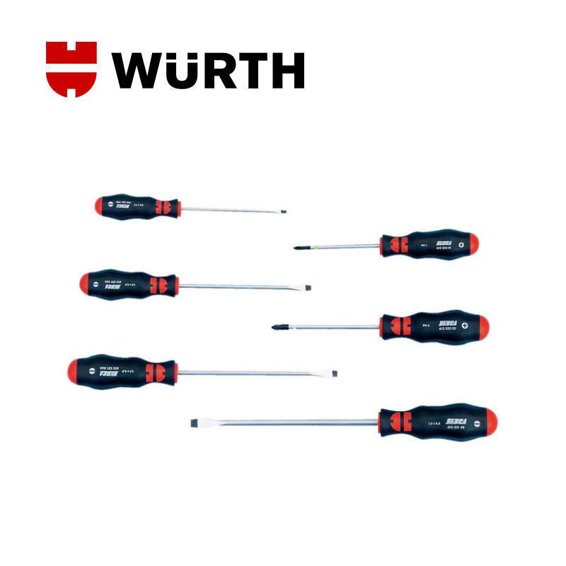 伍尔特官方(WURTH)061392326 机工改锥组套-6PCS