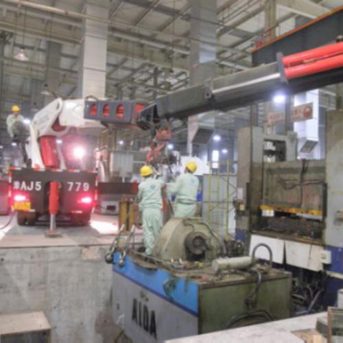 天津空港開発区「禧玛诺自行车」500tAIDA产压机
