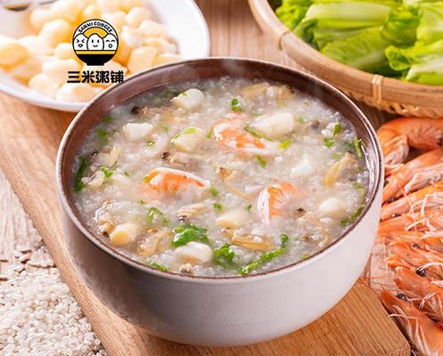 干贝虾仁蛤蜊粥
