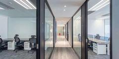 办公室玻璃隔断墙