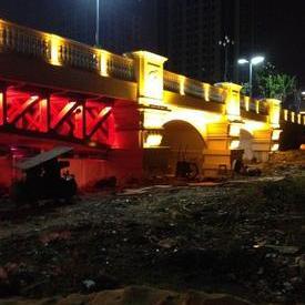 产品名称松江万达茸梅路桥灯光
