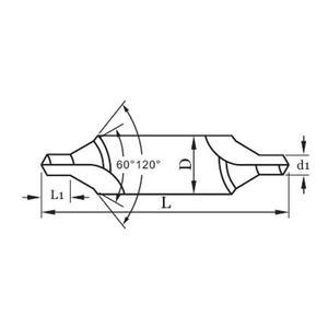 ANSI H.S.S Center Drills, Bell Type,60°Angle
